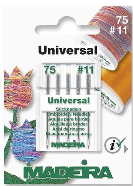 Bild von Madeira Maschinennadel / für Stickgarne Nr. 75 5 St