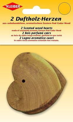 Bild von Kleiber Duftholz-Herzen aus Zedernholz 2 Stück