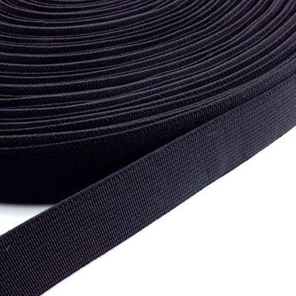 Bild von Gummiband schwarz 50mm breit / 1 Meter